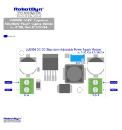 pinout lm2596 dc dc step down adjustable power supply module in 3  [ 1700 x 1700 Pixel ]