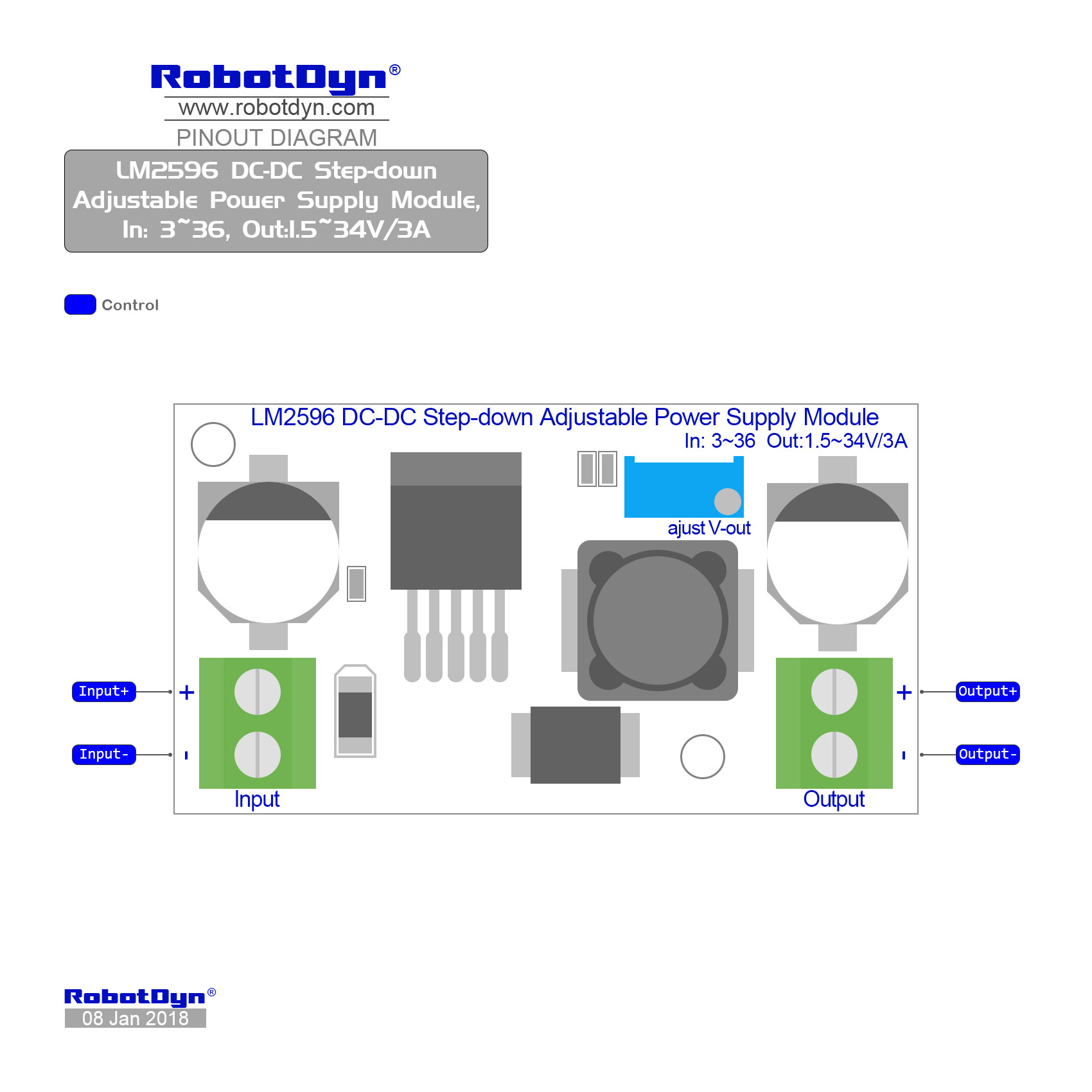 hight resolution of pinout lm2596 dc dc step down adjustable power supply module in 3