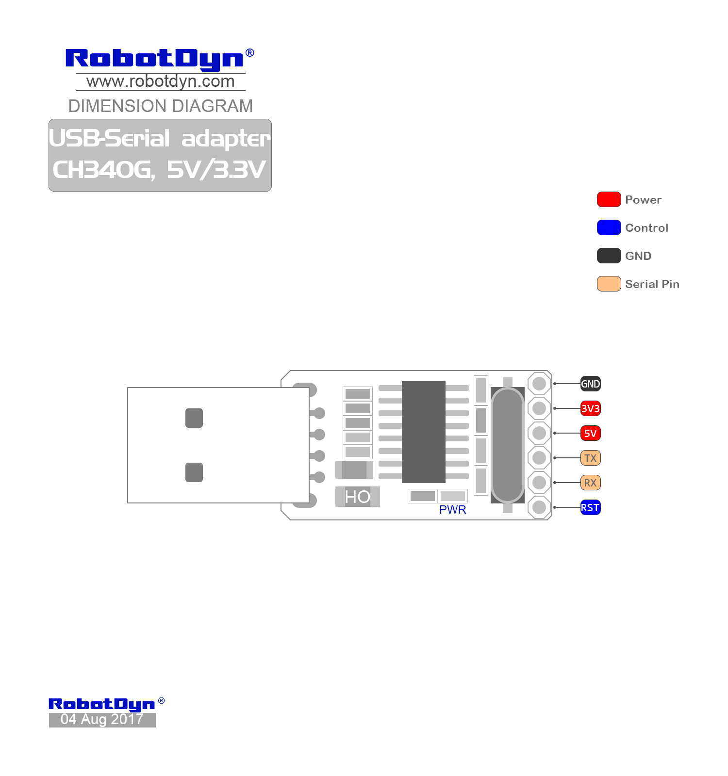 hight resolution of pinout usb serial adapter ch340g 5v 3 3v