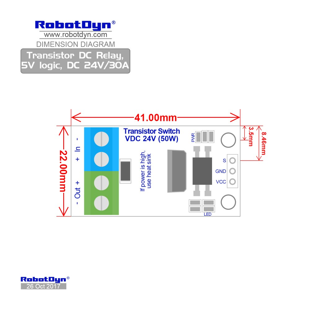 medium resolution of dimensions transistor mosfet dc switch relay 5v logic dc 24v 30a