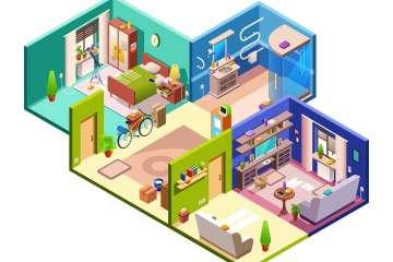 Huis flat isometric