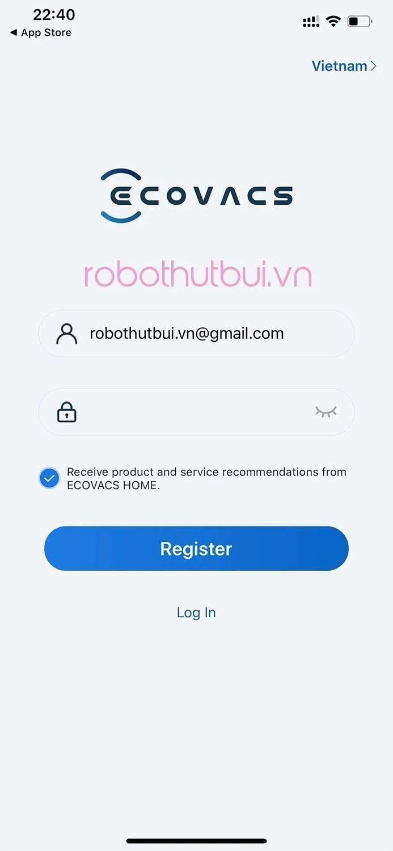 Cài đặt App Ecovacs Home: kết nối chỉ trong một nốt nhạc | robothutbui.vn