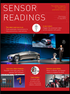 Sensor Readings – robotics and automation magazine, first issue