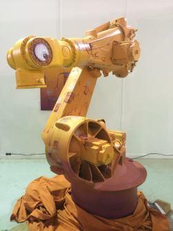 Kuka palletising robot becomes art exhibit