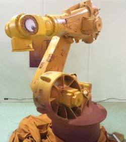 Kuka palletising robot becomes art exhibit