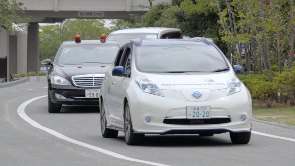 Nissan demonstrates autonomous car technology at G7 Summit