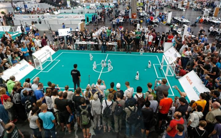 German robots win football competition