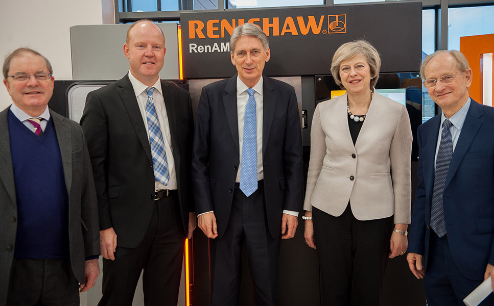 Renishaw hosts UK Prime Minister and Chancellor for visit focused on research and development