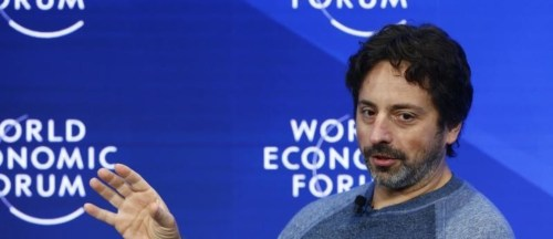 Sergey Brin, co-founder of Google, at Davos 2017