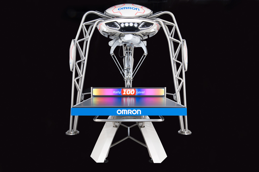 Learning through play: Omron shows off table tennis-playing robot