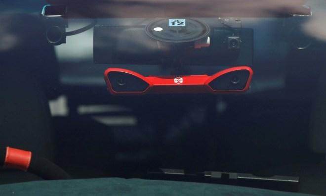 A stereo vision camera is seen on ZMP RoboCar MiniVan