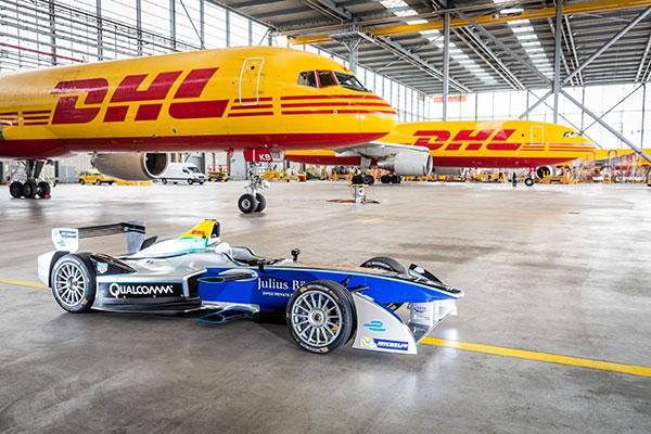 DHL uses Effibot logistics robot to deliver Formula E racing cars