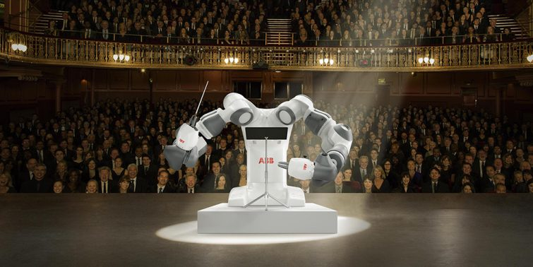 ABB's YuMi collaborative robot to conduct classical music orchestra