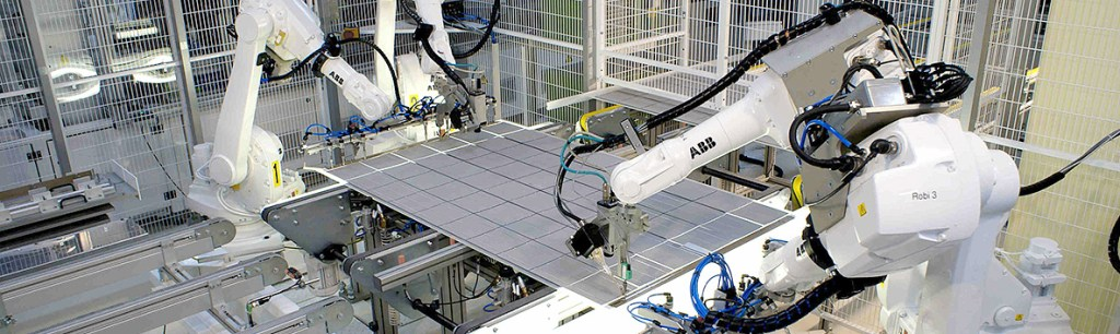 Solar power industry using robotics and automation to achieve productivity gains