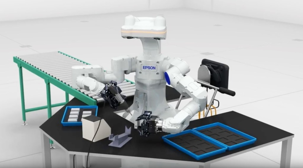 Epson to launch 'WorkSense' autonomous dual-arm industrial robot for industrial applications