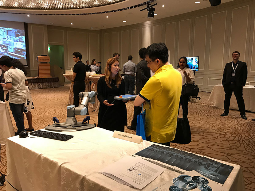 Universal Robots puts on a show in Singapore for people interested in its technologies