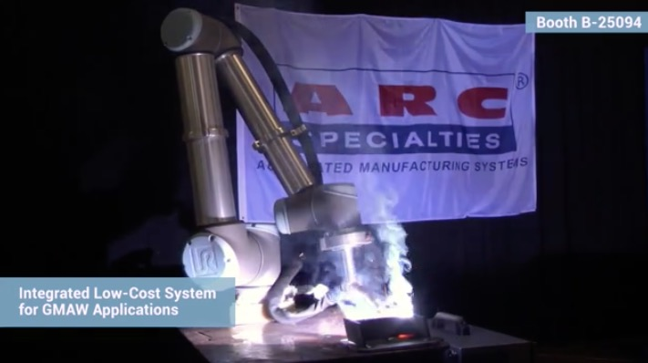Universal Robots and ARC Specialties launch MIG welding system at FabTech