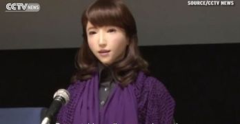 Humanoid roboticist Hiroshi Ishiguro unveils news-reading android