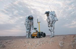 Husky UGV used for 3D mapping in Mars simulation