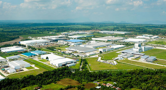 Aerial view of the First Philippine Industrial Park in Santo Tomas, Batangas