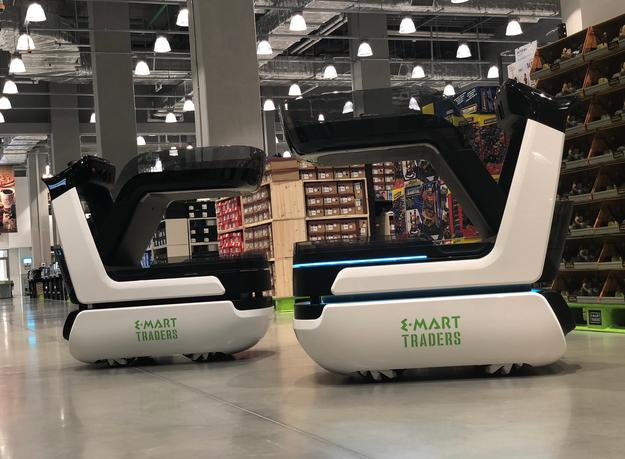 E-mart introduces Eli autonomous shopping cart