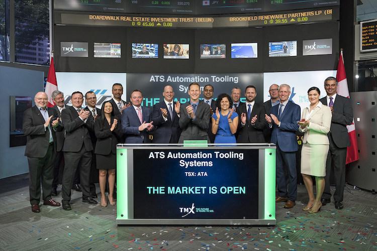 ATS Automation executives open stock market