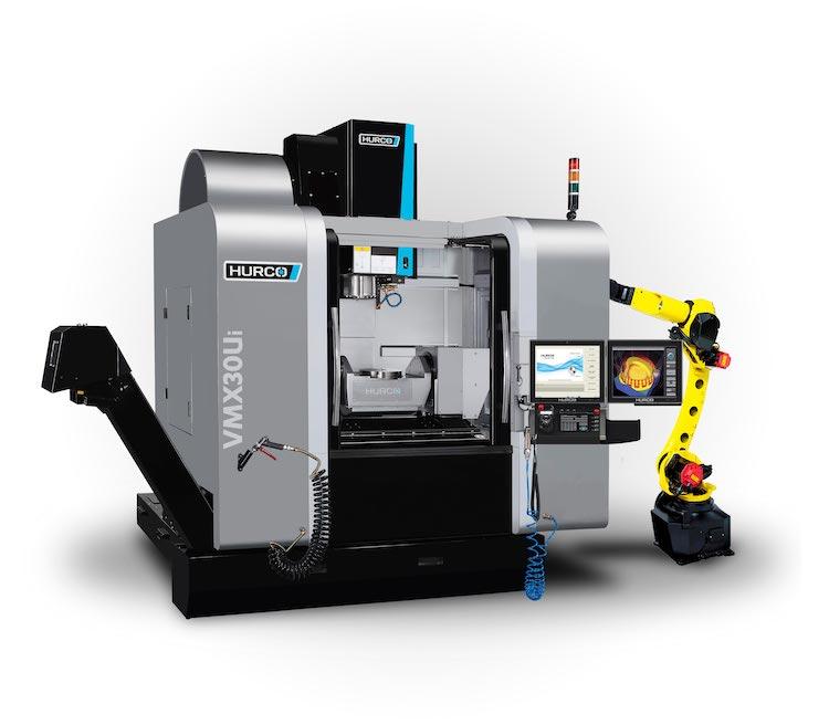 hurco VMX30Ui CNC Machine with Fanuc Robot