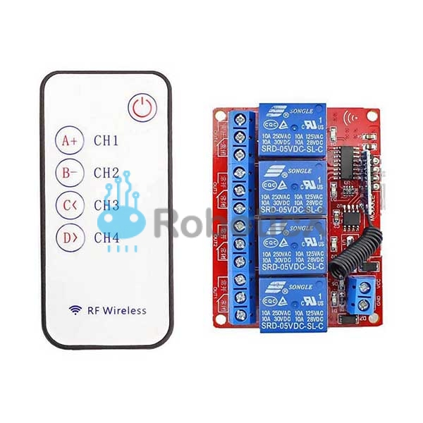 4 Channels RF Remote -01