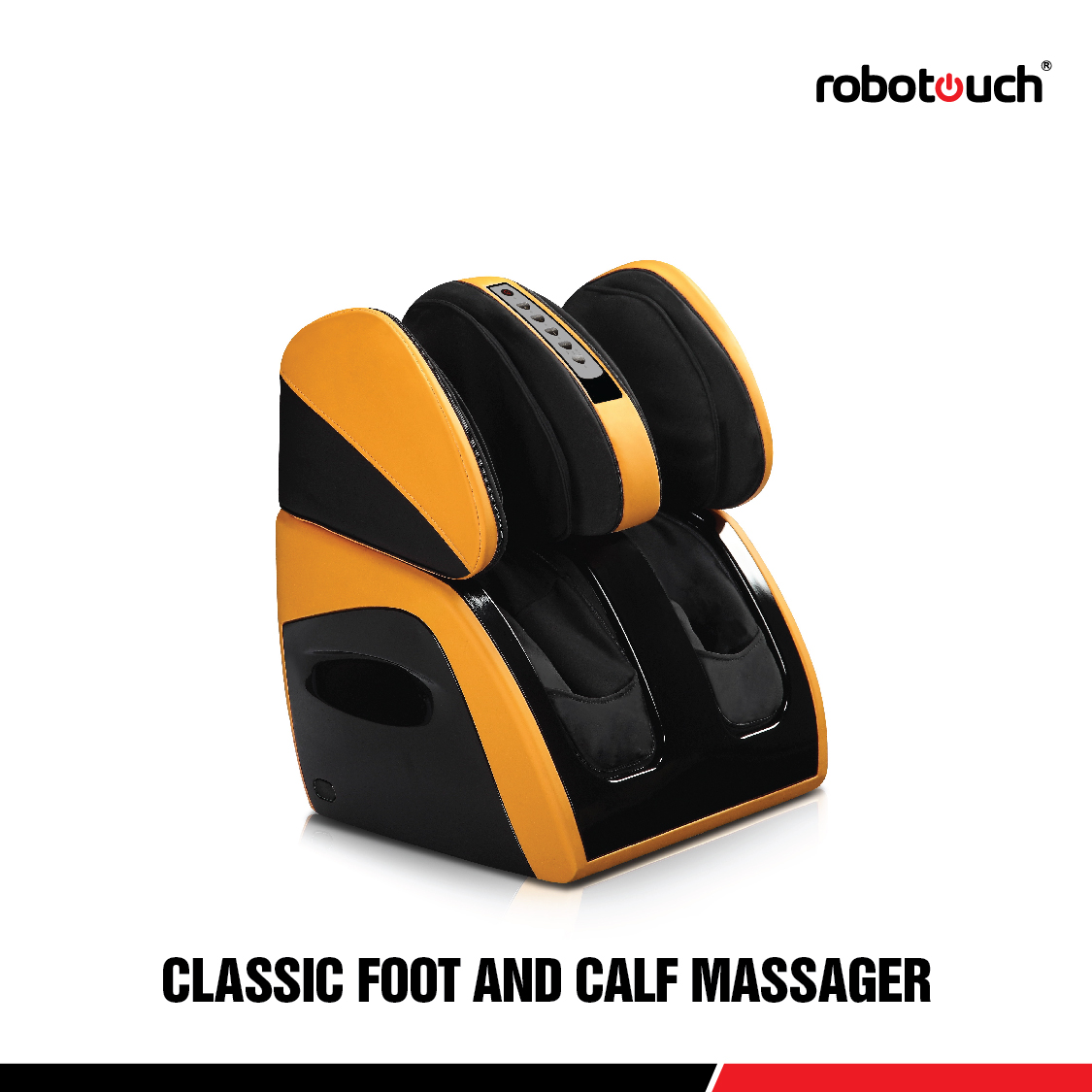 Robotouch Classic Foot & Calf – Shiatsu Relaxing Leg, Calf, Knee, Ankle W/Heat Therapy For Calves Feet-Yellow-876