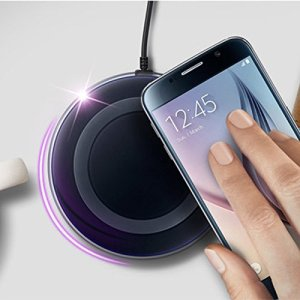 Robotouch wireless charging pad - Power Up Devices Wirelessly - M2 color Black-0