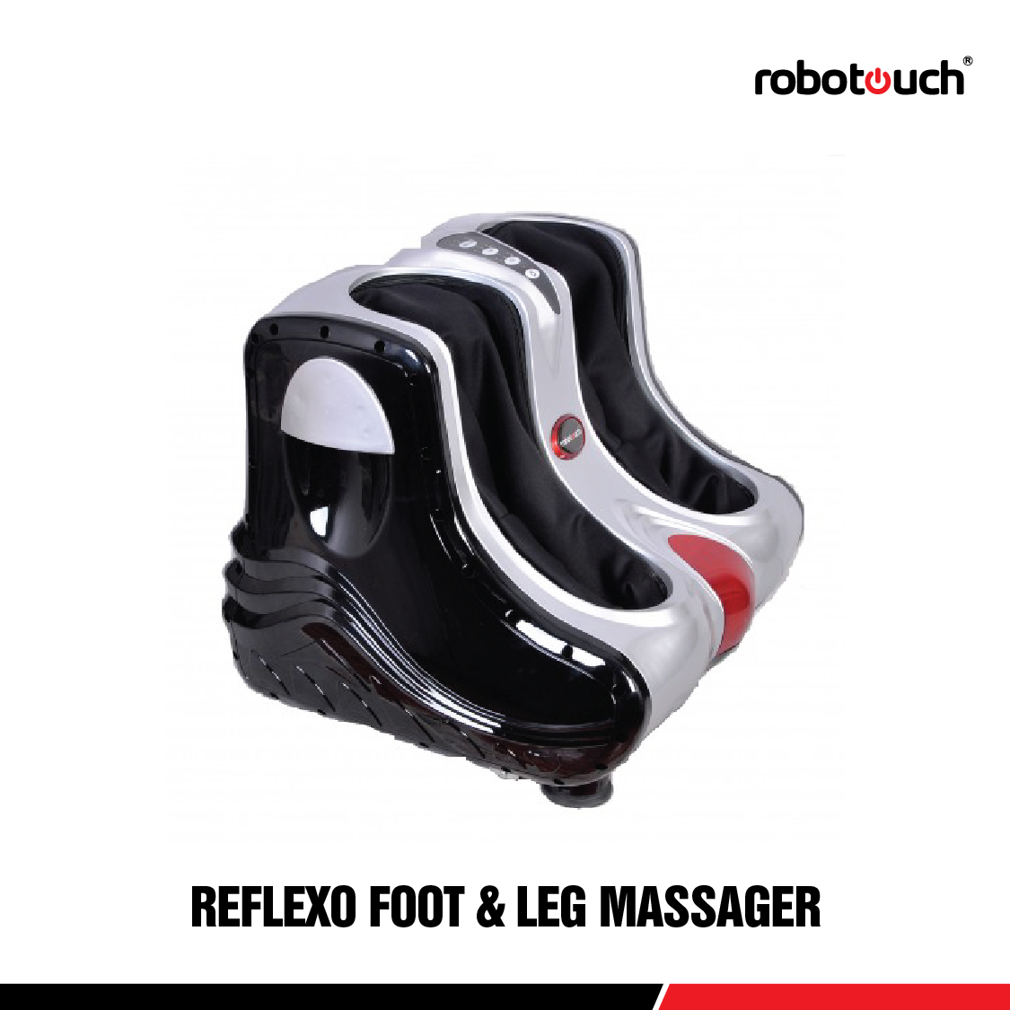 Robotouch Reflexo Foot And Calf Massager With Heat Sole Rollers