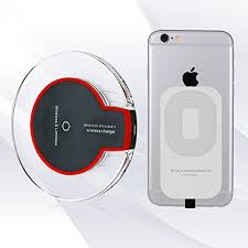 Fantasy M3 Qi Wireless Charging Mini Pad for Apple iPhone 5/5c /5s/6/6s/6 Plus/6S plus, iPod Touch Wireless Charger along with iPhone receiver [M3 Black]-0
