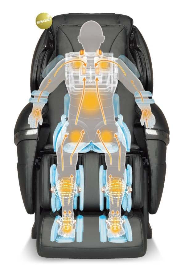 Robotouch Dreamline Intelligent 3-D Zero Gravity Massage Chair With Bluetooth,Android/IOS App,Magnetic Therapy - New Full Featured Luxury Shiatsu Chair - Color Black-676