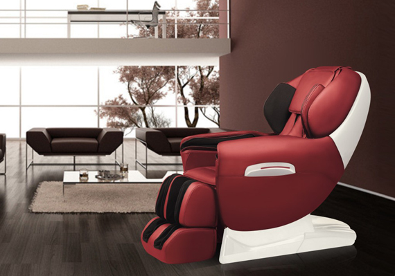 Robotouch Maxima Luxury Full Body Zero Gravity Massage Chair W/Heat & Foot Rollers - Ultimate Massage Experience-Space Saving - Rose Red-691