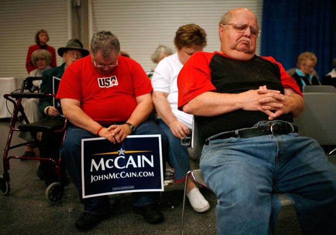 Crowd at a John McCain Speech