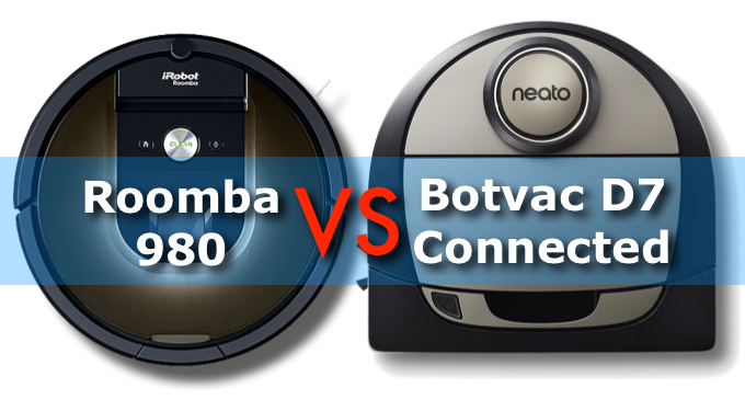 Roomba 980 Vs Neato Connected D7 Best Vacuum Robots' Duel