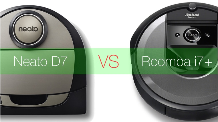 roomba I7+ Vs Neato D7 Botvac Connected
