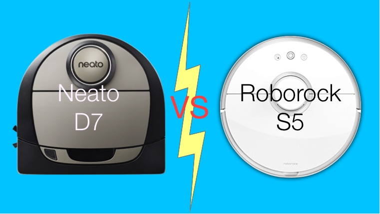 Neato D7 vs Roborock S5 best challengers to top Roomba vacuum robot