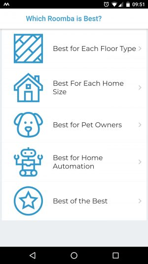 which roomba app screenshot android smartphone