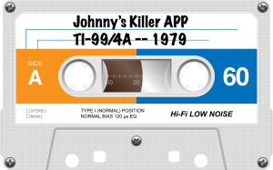 Cassett-Tape-Basic Program-Johnny's Killer app -1979