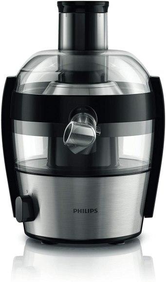 Philips HR1836/00 Centrifugeuse noire 500W, Quickclean nettoyage 1mn, cheminée XL, tamis inversé electro poli, jusqu' à 1,5L de jus