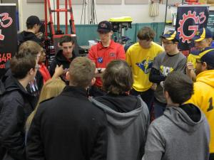 The teams meet before the playoff matches are kicked off.
