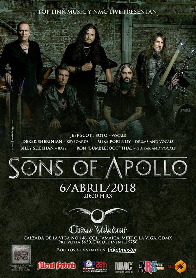 Sons of Apollo: La Super Banda llega a México.