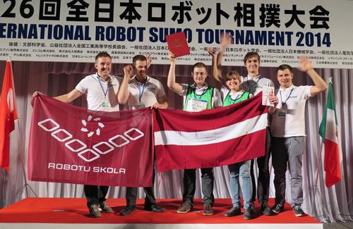 All Japan Robot Sumo Tournament uzvara 2014 Tokyo