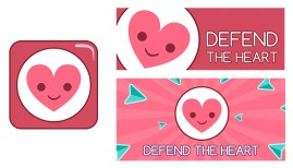 Defend the Heart icon and promo banners - by Shelly Soneja