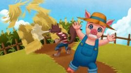 Three Pigs story book app 02 - Art by Shelly Soneja