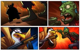 Zombies vs Penguins comic cutscene 01 - by Marvin del Mundo
