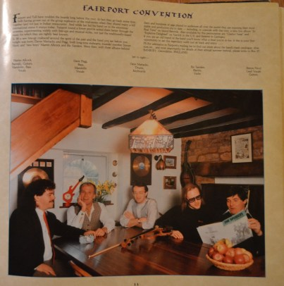 The Fairport Convention page in the Jethro Tull program, 1987