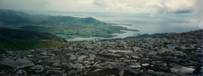 Climbing Slieve League, Donegal, Ireland