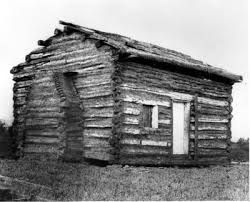 Lincoln log cabin